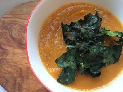 Roasted veg soup