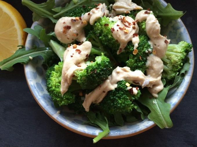 Broccoli and tahini