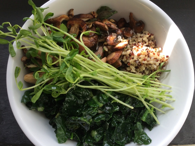 Mushroom and veg bowl