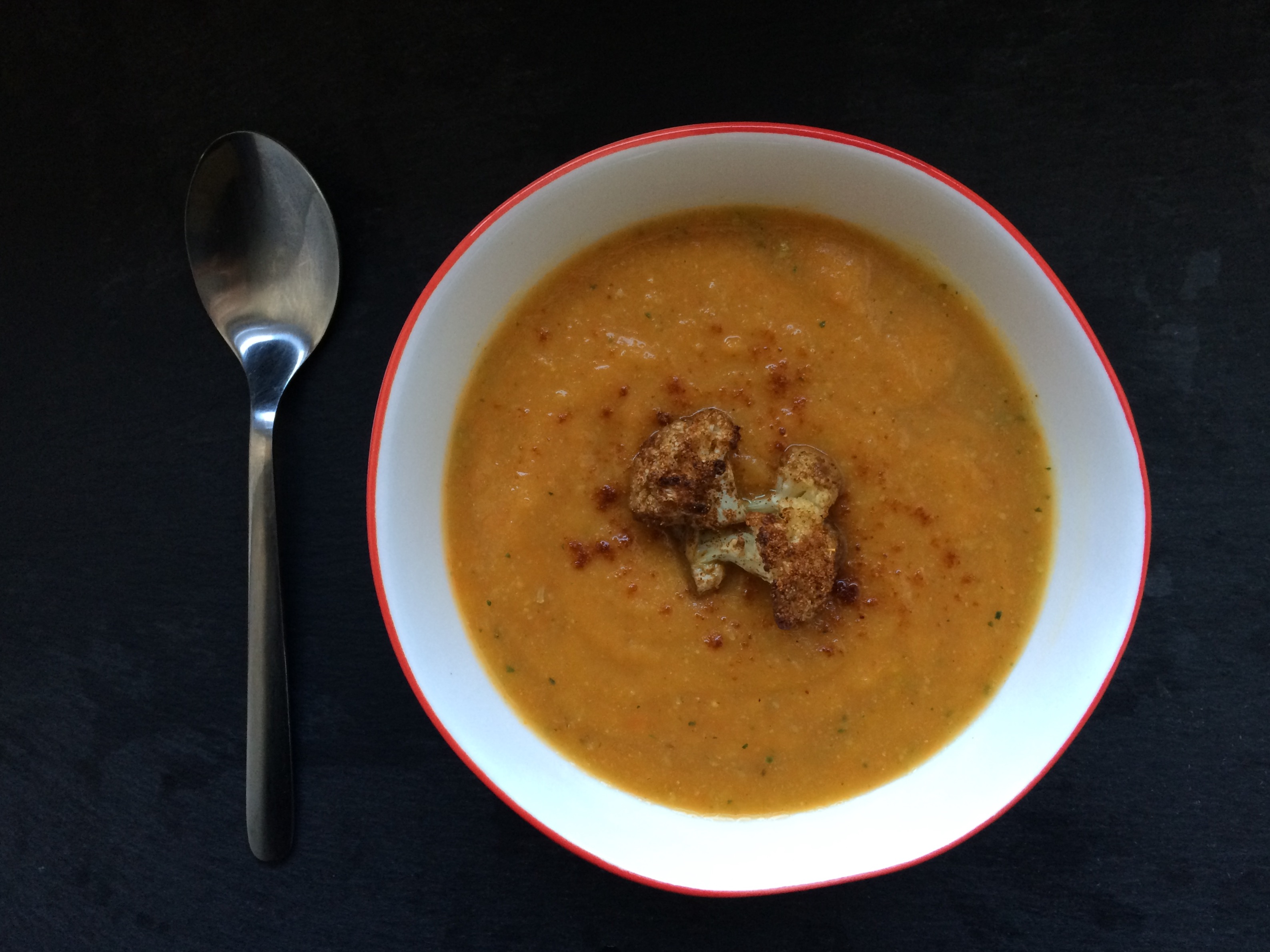 Spiced Carrot Cauliflower Soup Recipe — Dishmaps